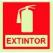 Placa de sinalização de Extintor