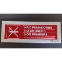Sinalética de Proibido Fumar - PVP Opaco