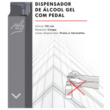 Dispensador de Álcool Gel com Pedal