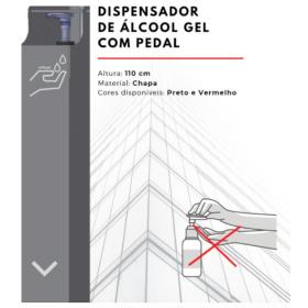 Dispensador de Álcool Gel com Pedal